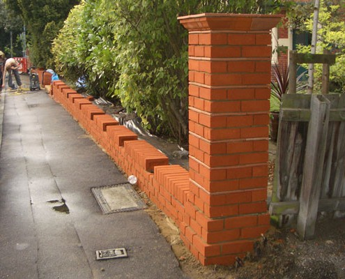 Repaired Brick Wall