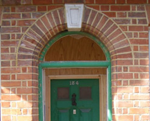 Original doorway arch bricks salvaged and re-used as per original specification