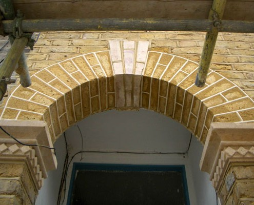 Archway tuck pointed as original build