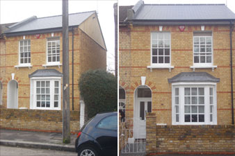 Finished brickwork restoration