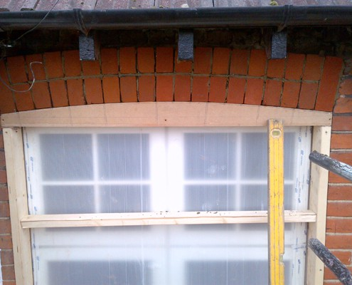 Window arch rebuilt